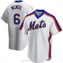 Mens Jeff Mcneil New York Mets #6 Replica White Home Cooperstown Collection A592 Jerseys