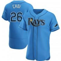 Mens Ji Man Choi Tampa Bay Rays #26 Authentic Light Blue Alternate A592 Jerseys