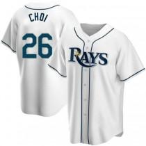 Mens Ji Man Choi Tampa Bay Rays #26 Replica White Home A592 Jerseys