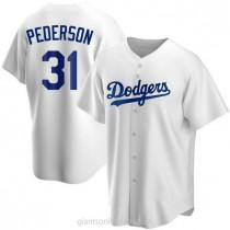 Mens Joc Pederson Los Angeles Dodgers Replica White Home A592 Jersey