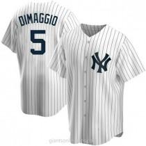 Mens Joe Dimaggio New York Yankees #5 Replica White Home A592 Jerseys