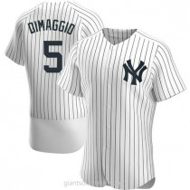 Mens Joe Dimaggio New York Yankees Authentic White Home A592 Jersey