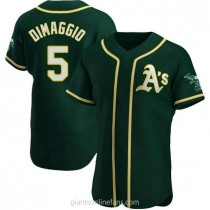 Mens Joe Dimaggio Oakland Athletics Authentic Green Alternate A592 Jersey