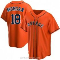 Mens Joe Morgan Houston Astros #18 Replica Orange Alternate A592 Jerseys