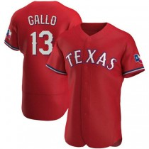 Mens Joey Gallo Texas Rangers #13 Authentic Red Alternate A592 Jersey