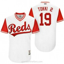 Mens Joey Votto Cincinnati Reds 19 Authentic White Tokki #2 2017 Players Weekend A592 Jersey