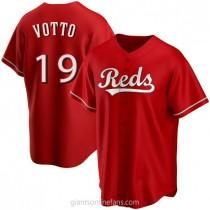 Mens Joey Votto Cincinnati Reds #19 Replica Red Alternate A592 Jersey