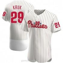 Mens John Kruk Philadelphia Phillies #29 Authentic White Home A592 Jersey