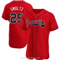 Mens John Smoltz Atlanta Braves Authentic Red Alternate A592 Jersey