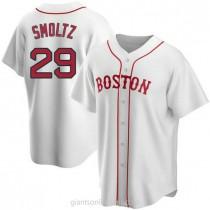Mens John Smoltz Boston Red Sox Replica White Alternate A592 Jersey