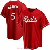 Mens Johnny Bench Cincinnati Reds Replica Red Alternate A592 Jersey