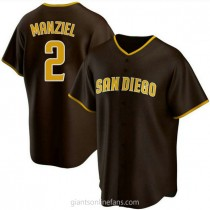 Mens Johnny Manziel San Diego Padres #2 Replica Brown Road A592 Jersey