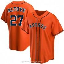 Mens Jose Altuve Houston Astros #27 Replica Orange Alternate A592 Jersey