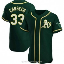 Mens Jose Canseco Oakland Athletics #33 Authentic Green Alternate A592 Jerseys