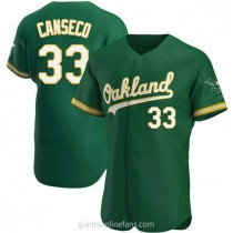 Mens Jose Canseco Oakland Athletics #33 Authentic Green Kelly Alternate A592 Jersey