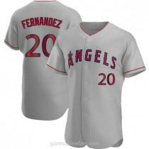 Mens Jose Fernandez Los Angeles Angels Of Anaheim #20 Authentic Gray Road A592 Jerseys