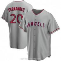 Mens Jose Fernandez Los Angeles Angels Of Anaheim #20 Replica Silver Road A592 Jersey