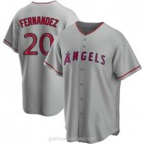 Mens Jose Fernandez Los Angeles Angels Of Anaheim Replica Silver Road A592 Jersey