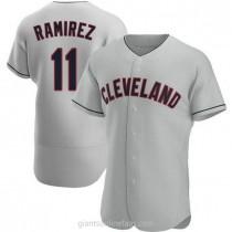 Mens Jose Ramirez Cleveland Indians Authentic Gray Road A592 Jersey