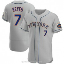 Mens Jose Reyes New York Mets #7 Authentic Gray Road A592 Jersey