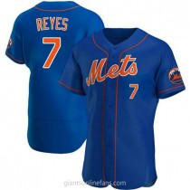 Mens Jose Reyes New York Mets #7 Authentic Royal Alternate A592 Jersey
