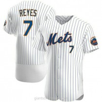 Mens Jose Reyes New York Mets #7 Authentic White Home A592 Jersey