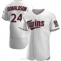 Mens Josh Donaldson Minnesota Twins #24 Authentic White Home A592 Jersey