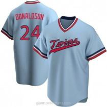 Mens Josh Donaldson Minnesota Twins #24 Replica Light Blue Road Cooperstown Collection A592 Jerseys
