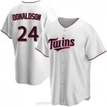 Mens Josh Donaldson Minnesota Twins #24 Replica White Home A592 Jersey