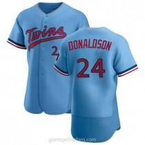 Mens Josh Donaldson Minnesota Twins Authentic Light Blue Alternate A592 Jersey