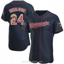 Mens Josh Donaldson Minnesota Twins Authentic Navy Alternate 60th Season A592 Jersey