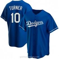 Mens Justin Turner Los Angeles Dodgers #10 Replica Royal Alternate A592 Jersey