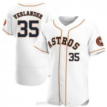 Mens Justin Verlander Houston Astros #35 Authentic White Home A592 Jersey