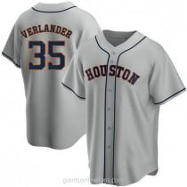 Mens Justin Verlander Houston Astros #35 Replica Gray Road A592 Jersey