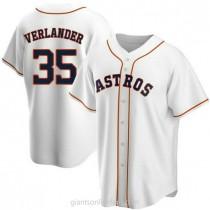 Mens Justin Verlander Houston Astros #35 Replica White Home A592 Jersey