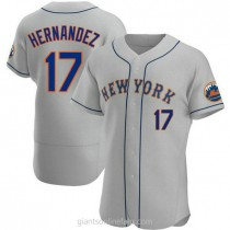 Mens Keith Hernandez New York Mets #17 Authentic Gray Road A592 Jersey