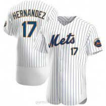 Mens Keith Hernandez New York Mets #17 Authentic White Home A592 Jersey