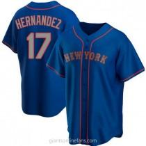 Mens Keith Hernandez New York Mets #17 Replica Royal Alternate Road A592 Jersey