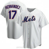 Mens Keith Hernandez New York Mets #17 Replica White Home A592 Jersey