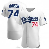 Mens Kenley Jansen Los Angeles Dodgers #74 Authentic White Home Official A592 Jerseys
