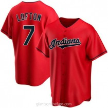 Mens Kenny Lofton Cleveland Indians #7 Replica Red Alternate A592 Jersey
