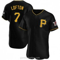 Mens Kenny Lofton Pittsburgh Pirates #7 Authentic Black Alternate A592 Jersey