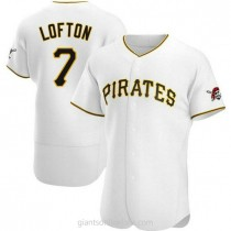 Mens Kenny Lofton Pittsburgh Pirates #7 Authentic White Home A592 Jersey