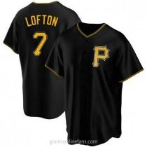 Mens Kenny Lofton Pittsburgh Pirates #7 Replica Black Alternate A592 Jerseys