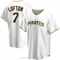 Mens Kenny Lofton Pittsburgh Pirates Replica White Home A592 Jersey
