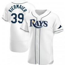 Mens Kevin Kiermaier Tampa Bay Rays #39 Authentic White Home A592 Jersey