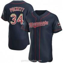 Mens Kirby Puckett Minnesota Twins #34 Authentic Navy Alternate 60th Season A592 Jersey