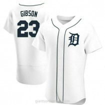 Mens Kirk Gibson Detroit Tigers #23 Authentic White Home A592 Jersey