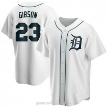 Mens Kirk Gibson Detroit Tigers #23 Replica White Home A592 Jerseys