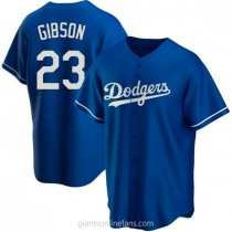 Mens Kirk Gibson Los Angeles Dodgers Replica Royal Alternate A592 Jersey